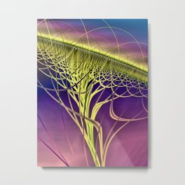 Twister Yellow Metal Print