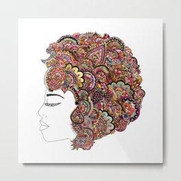 Her Hair - Les Fleur Edition Metal Print