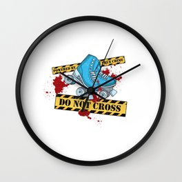 True Crime & Roller Derby - Crime Scene - Do Not Cross Wall Clock
