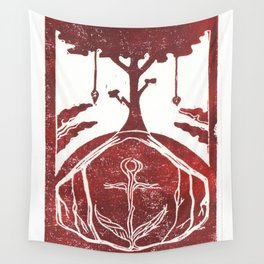 Grounding (White) Wall Tapestry