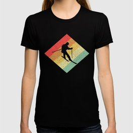 Retro Vintage 80s Skiing Gift For Skiers T-shirt