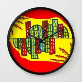 Ginevra's double city Wall Clock