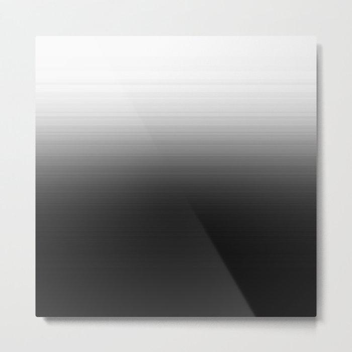 Black & White Ombre Gradient Metal Print