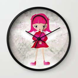 Pink angel - L'ange rose Wall Clock