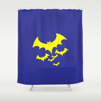 bat Shower Curtains featuring Bat by Spooky Dooky