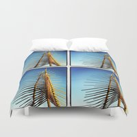 coachella Duvet Covers featuring Coachella by Wolf Feather