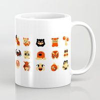 snorlax Mugs featuring The Boys Are Back In Town by Paperbeatsscissors