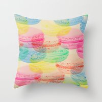 macaroon Throw Pillows featuring Macaroon Madness by Tyler Spangler