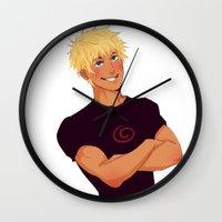 naruto Wall Clocks featuring Naruto Uzumaki by Yuki119
