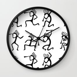 Kokopelli Silhouette Wall Clock