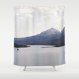 Sun Point, Glacier National Park, 35mm Shower Curtain