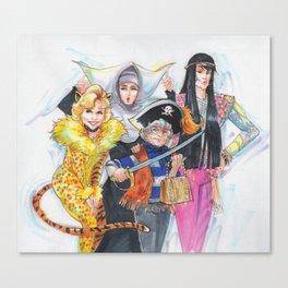 Golden Halloween Canvas Print