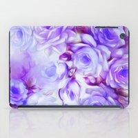 shabby chic iPad Cases featuring Shabby Chic Purple by Jacqueline Maldonado