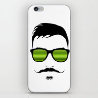 mustache iPhone & iPod Skins featuring Mustache by FalcaoLucas