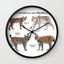 Lynxes of the World Wall Clock