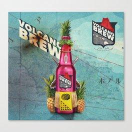 Volcano Brew - I lava you! Canvas Print