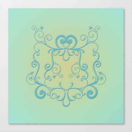 Mint tendrils emblem Canvas Print