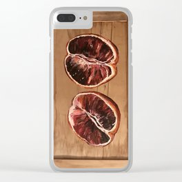 Blood Orange Clear iPhone Case