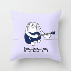 La-la-la Throw Pillow