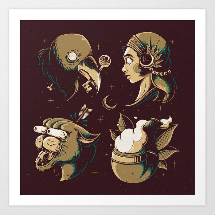 Tattoodles Art Print