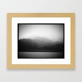Misty Lake Framed Art Print