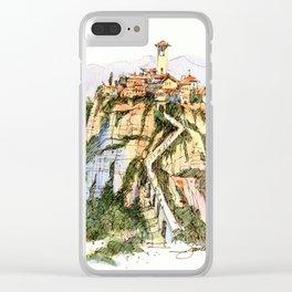 Civita di Bagnoregio, Italy Clear iPhone Case