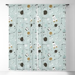 Space ships Animals Prints patterns Blackout Curtain