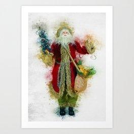 Vintage Father Christmas Art Print