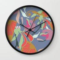 oriental Wall Clocks featuring Oriental  by Laura Sturdy