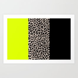 Leopard National Flag V Art Print