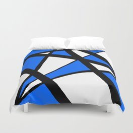 China Blue Geometric Triangle Abstract Duvet Cover