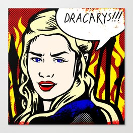 Dracarys! Canvas Print
