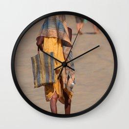 Beggar on Palolem Beach Wall Clock