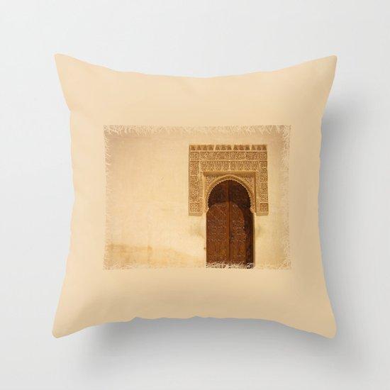 Moor Door Throw Pillow