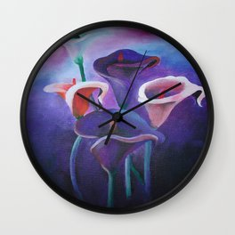 Purple Callas Wall Clock