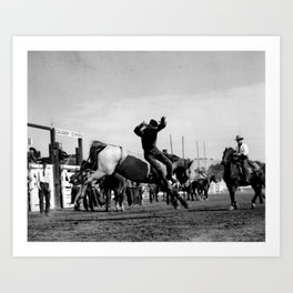 Rodeo Riders at the 1940 Calgary Stampede - Cow-boys de rodéo au Stampede de Calgary de 1940  Art Print