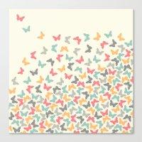 butterflies Canvas Prints featuring Butterflies by Juste Pixx Designs