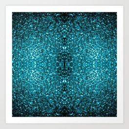 Beautiful Aqua blue glitter sparkles Art Print