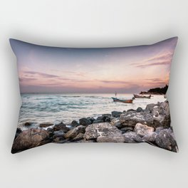 Rocky Coast Sunrise Rectangular Pillow