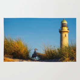 Old lighthouse from Hanseatic city of Rostock Rug
