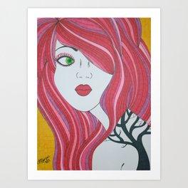 Girl with the Tree Tattoo Art Print