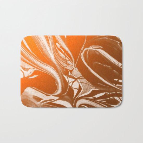 Copper Swirl - Copper, Bronze, gold and white metallic effect swirl pattern Bath Mat