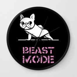 Beast Mode Frenchie Wall Clock