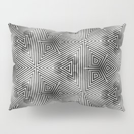 It's Alive! Black and White Op-art Pillow Sham