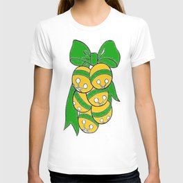 Gold Sleigh Bells With A Green Bow T-shirt