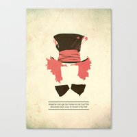 mad hatter Canvas Prints featuring Mad Hatter by TurtleGirl