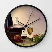 wine Wall Clocks featuring Wine by Azot