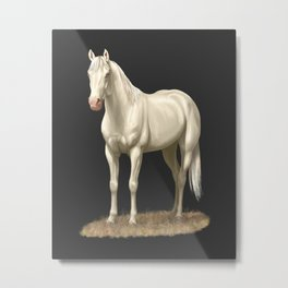 Beautiful White Cremello Horse Metal Print