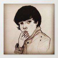 jake Canvas Prints featuring Jake by Julio César