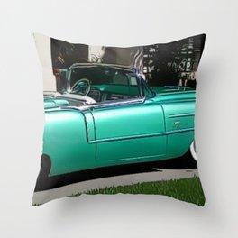Vintage 1957 Eldorado Brougham Convertible Painting Throw Pillow